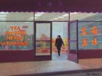 Tea & Ginseng Store, Pastel, 9x14