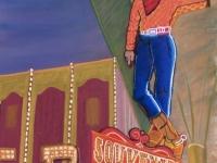 Vegas Vic, Pastel, 18x12