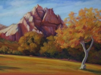 Autumn at Spring Mt. Ranch, Pastel, 13x19