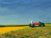 Minnesota Farm, Acrylic, 8x10