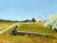 Montana Farm, Acrylic, 8x10