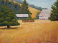 Ranch at High Noon, Pastel, 11x15