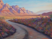 Desert Road, Acrylic, 12x16