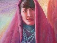 Acoma Pueblo Woman 1905, Pastel, 22x18