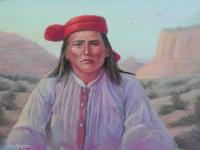 Al Che Say-Apache 1895, Pastel, 16x22