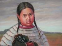 Cheyenne Girl 1880, Pastel, 18x24