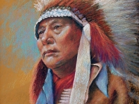 Hollow Horn Bear Brule-Dakota 1905-pastel-24x19