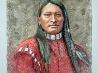 Red Armed Panther-Cheyenne 1879, Pastel, 18x14