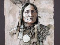 Running Antelope-Teton Sioux 1872, Pastel, 15x12